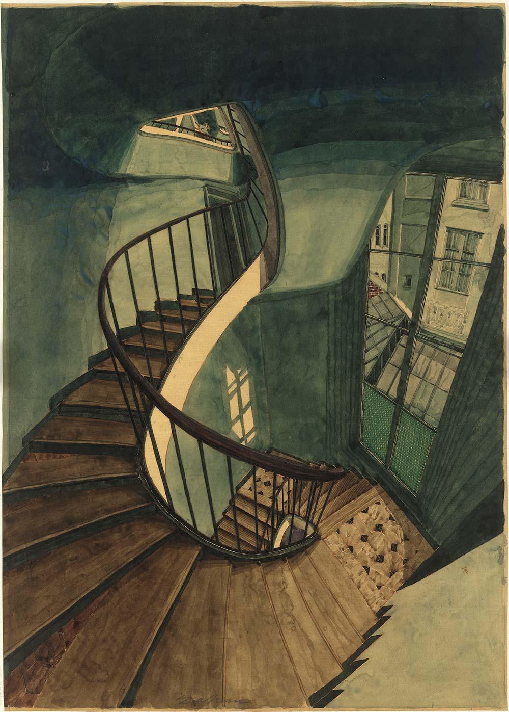 美术  楼梯透视画法